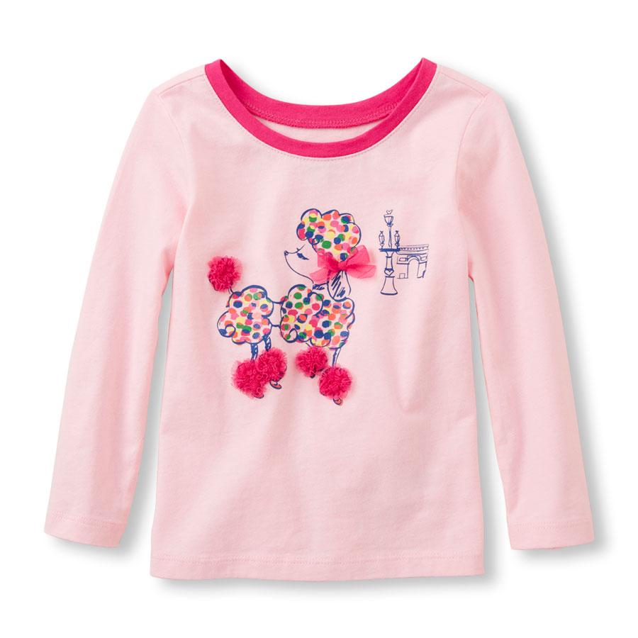 Реглан детский хлопковый для девочки Children's Place (США) Embellished Dog P возраст 3-5 лет