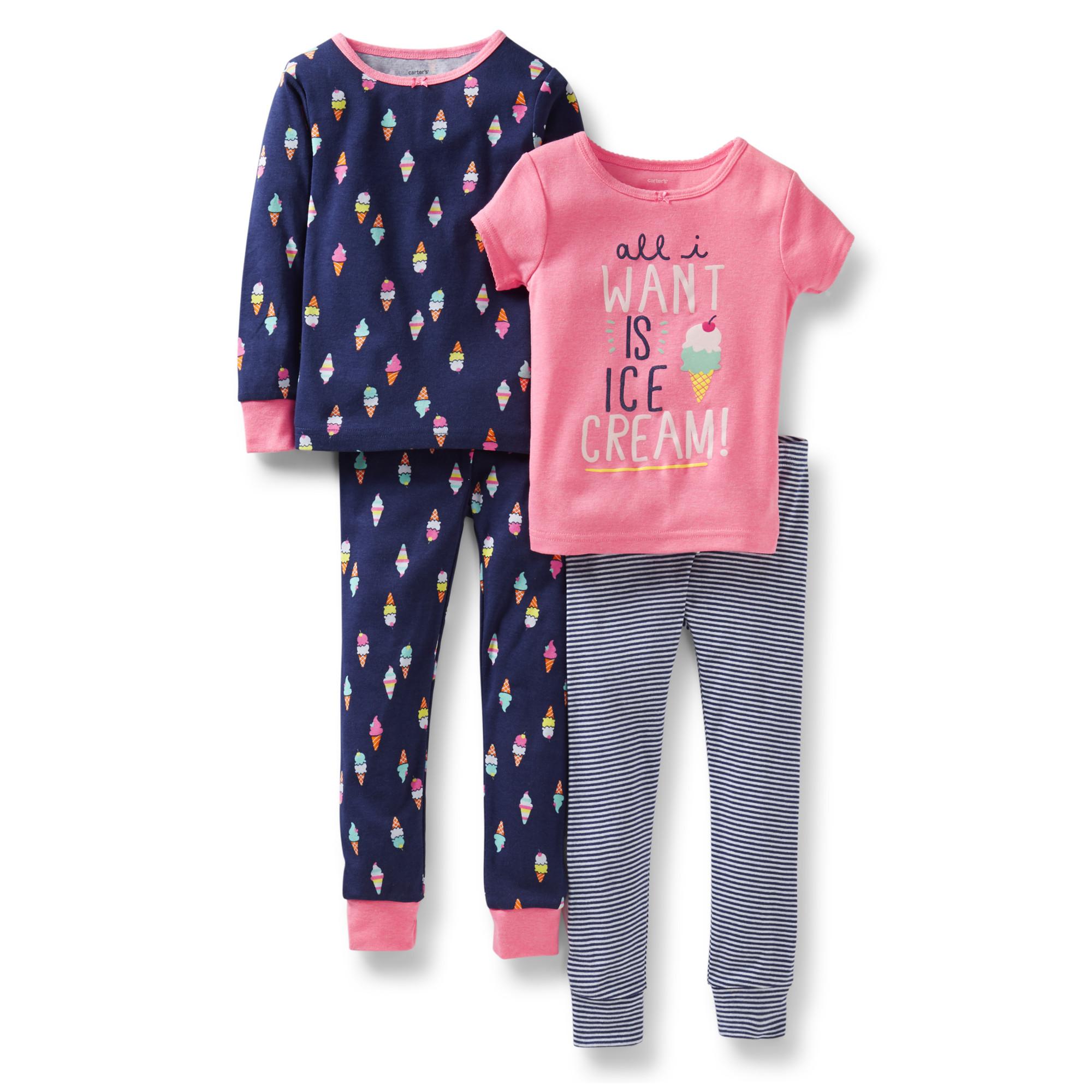 Комплект з 2-ох піжамок дитячий для дівчинки Carters (США) COTTO PINK  ICECREAM 8e0bc1650afe4