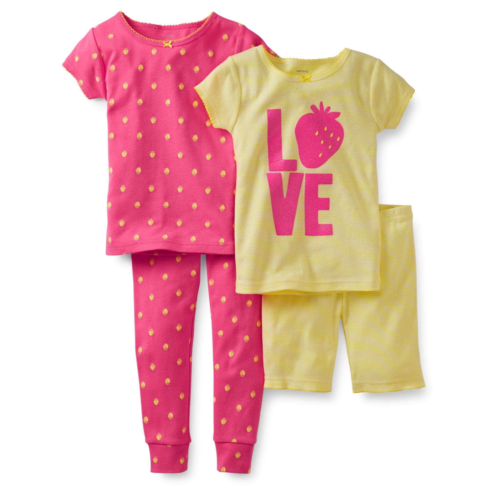Комплект з 2-ох піжамок дитячий для дівчинки Carters (США) COTTO YELLOW  LOVE вік 3-5 років  95561055b367b