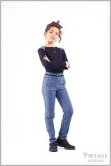 """Комплект """"Vintage"""" 4306-2 4200-2 блузка и брюки для девочки рост 128-140см"""