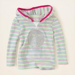 Реглан дитячий бавовняний для дівчинки Children's Place (США) striped thermal вік 2-4 роки